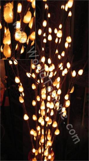 Large 38in. 80 Light Natural Pussy Willow Pussy Willow Lights