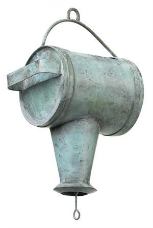 Watering Can Leader - Blue Verde Aluminum Japanese Rain Chains