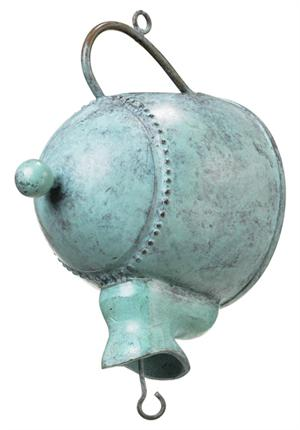 Teapot Leader - Blue Verde Aluminum Japanese Rain Chains