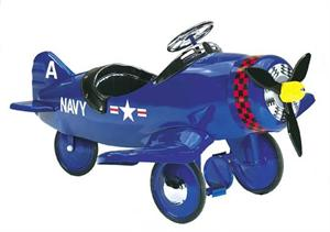 Corsair Plane Retro Antique Pedal Toys
