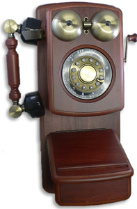 Mahogany Antique Wooden Wall Telephone Antique Wall Telephones Wooden