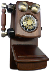 Walnut Antique Wooden Wall Telephone Antique Wall Telephones Wooden