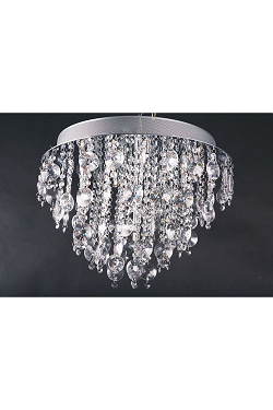 10 Light Crystal Flushmount Crystal Lighting