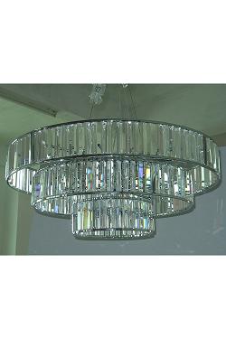 20 Light Modern Crystal Prism Pendant Crystal Lighting