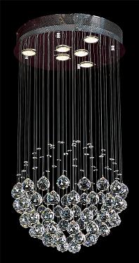 6 Light Crystal Pendant Crystal Lighting