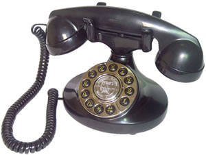 Alexis 1922 Black Decorator Antique Phone American Classic Antique Telephones