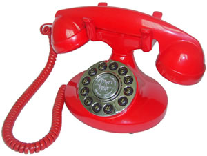 Alexis 1922 Red Decorator Antique Phone American Classic Antique Telephones