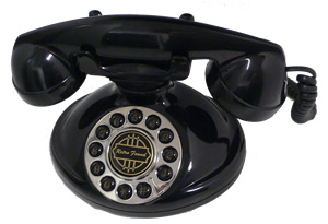 Christie 1921 Retro Telephone Black Decorator American Classic Antique Telephones