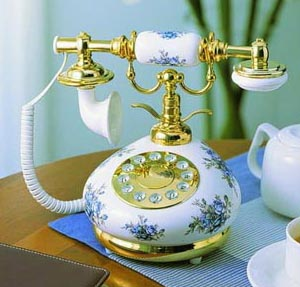 Blue and White Porcelain Antique Phone Antique Porcelain Telephones