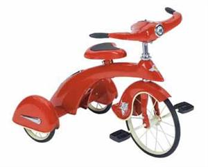 Jr. Skyking Tricycle (Red) Retro Antique Pedal Toys