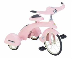 Jr. Skyking Tricycle (Pink) Retro Antique Pedal Toys