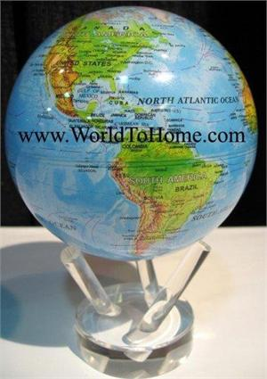 "4.5"" Blue Ocean - Relief Map Mova Globe 4.5 Mova Globe"