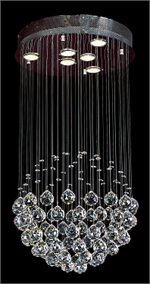 6 Light Crystal Pendant Crystal Lighting