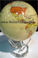 "8.5"" Antique Beige - Political Map Mova Globe 8.5 Mova Globe"