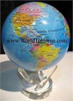 "4.5"" Blue Ocean - Political Map Mova Globe 4.5 Mova Globe"