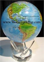 "4.5"" Blue Ocean - Relief Map Mova Globe 4.5 Mova Globe"